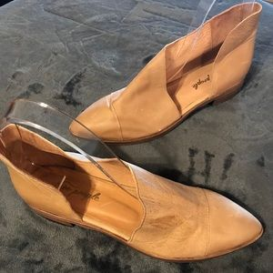 Free People Royale Brown Leather Flats Size 40